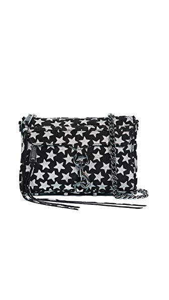 Rebecca Minkoff Glitter Star Mini Mac Cross Body Bag