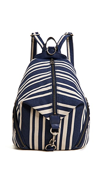 Rebecca Minkoff Julian Backpack In Stripped