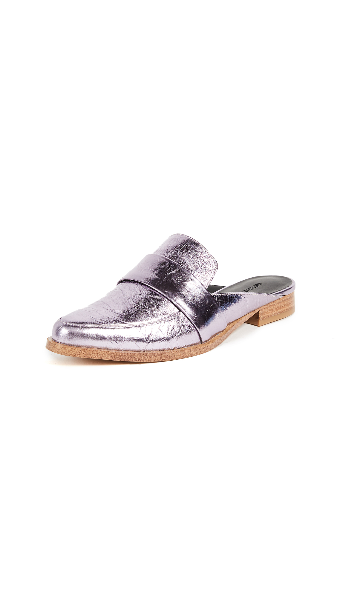 Rebecca Minkoff Mika Metallic Loafers - Pale Lilac