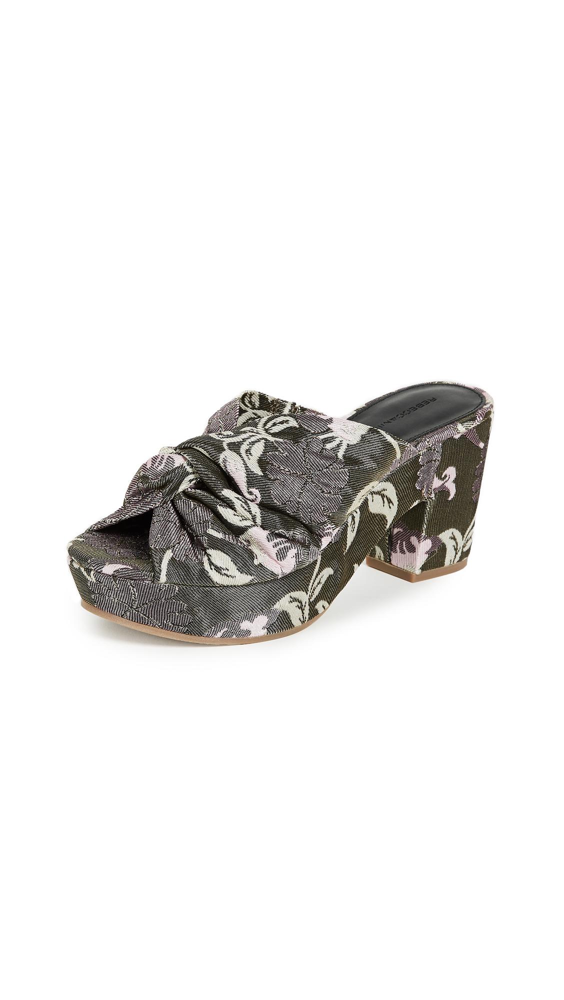 Rebecca Minkoff Jaden Platform Sandals - Green/Pink