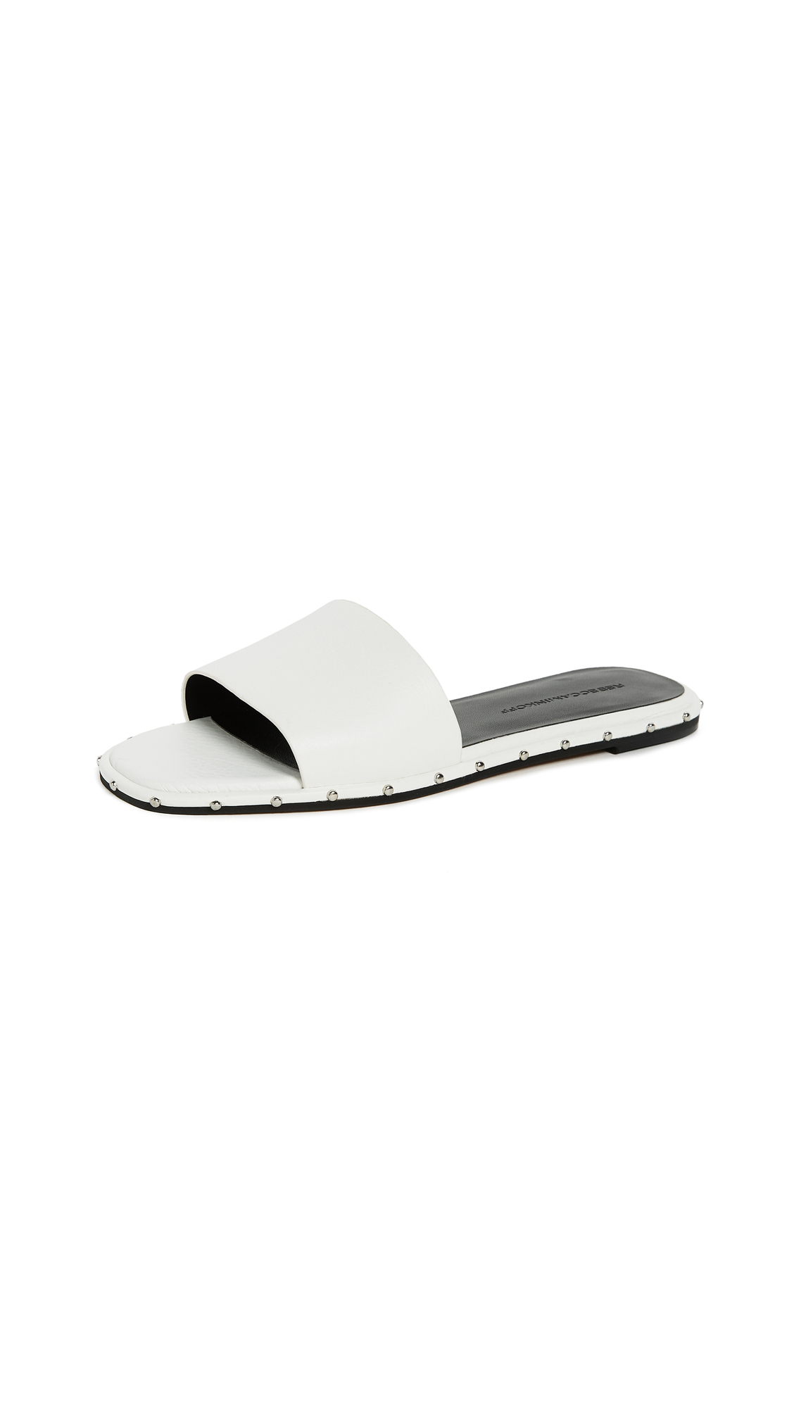 Rebecca Minkoff Saville Slides In Optic White