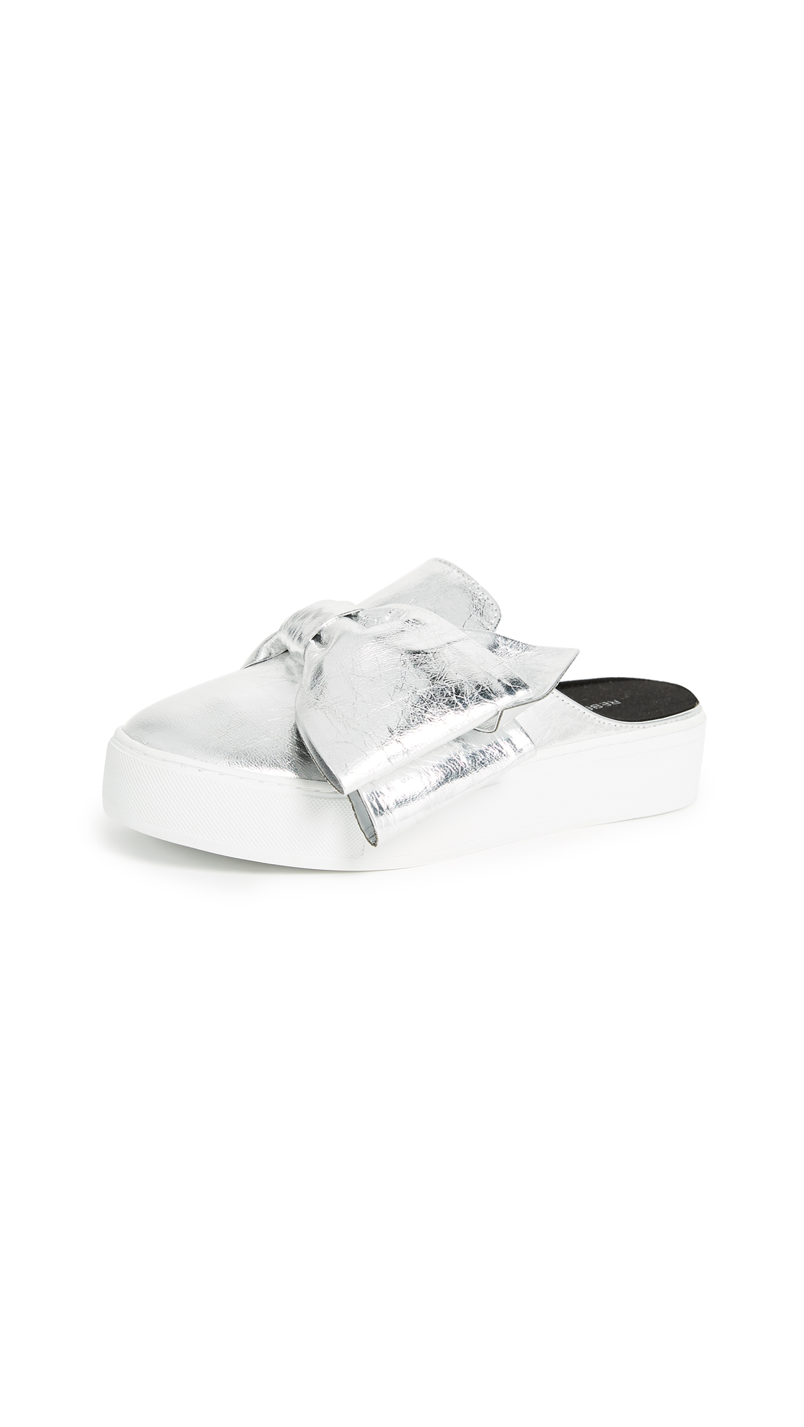 Rebecca Minkoff Neva Mule Sneakers - Silver