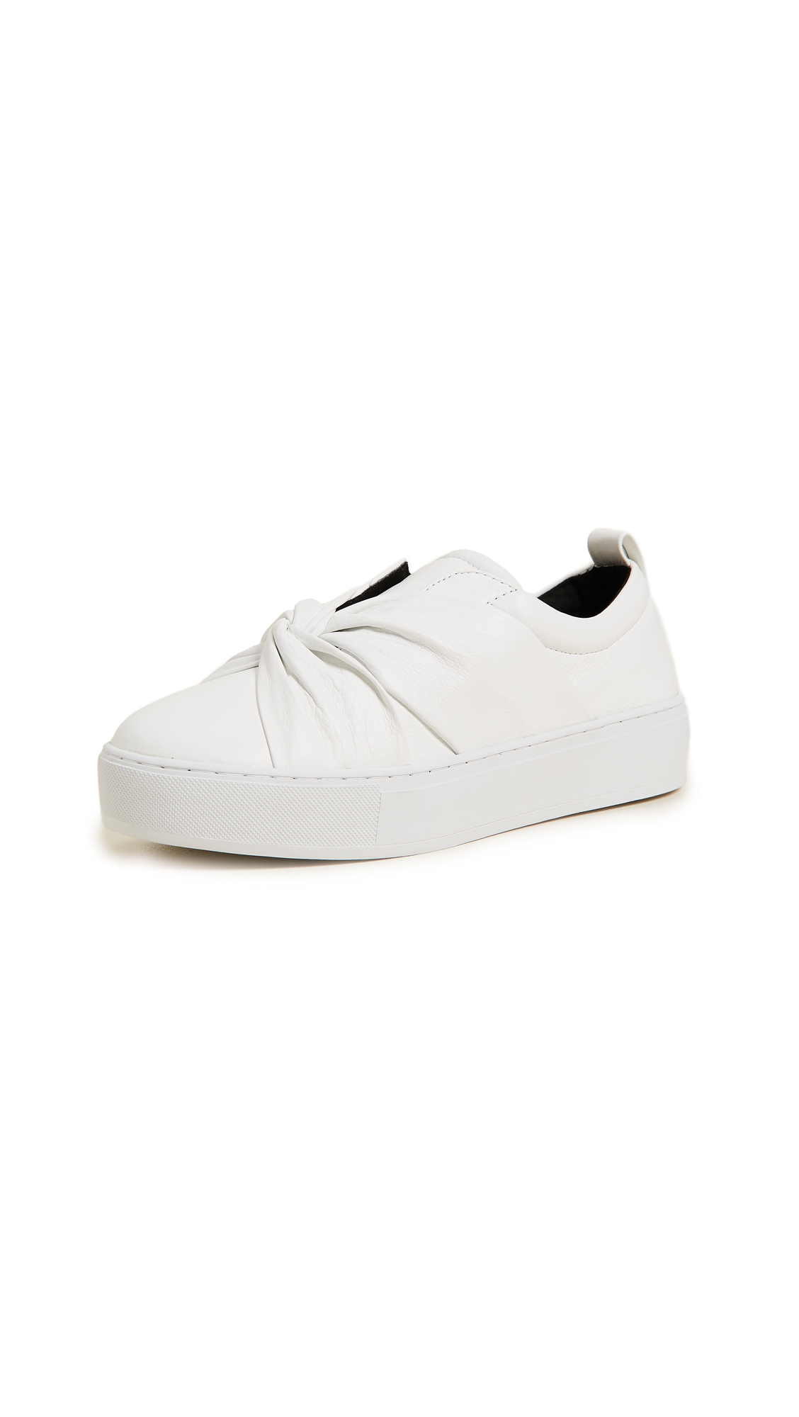 Rebecca Minkoff Nicole Knot Sneakers - Optic White
