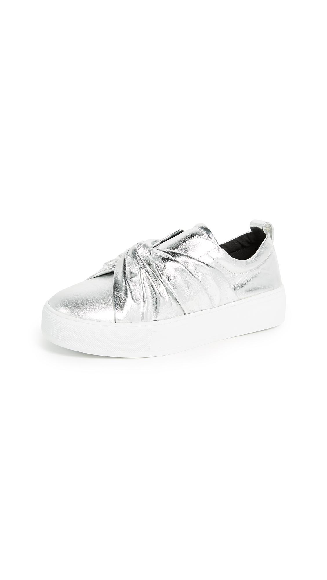 Rebecca Minkoff Nicole Knot Sneakers - Silver