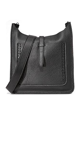 Rebecca Minkoff Unlined Feed Bag with Whipstitching - Black