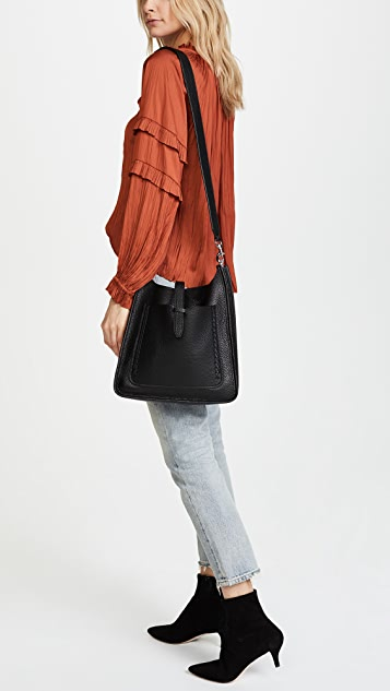Rebecca Minkoff Unlined Feed Bag with Whipstitching