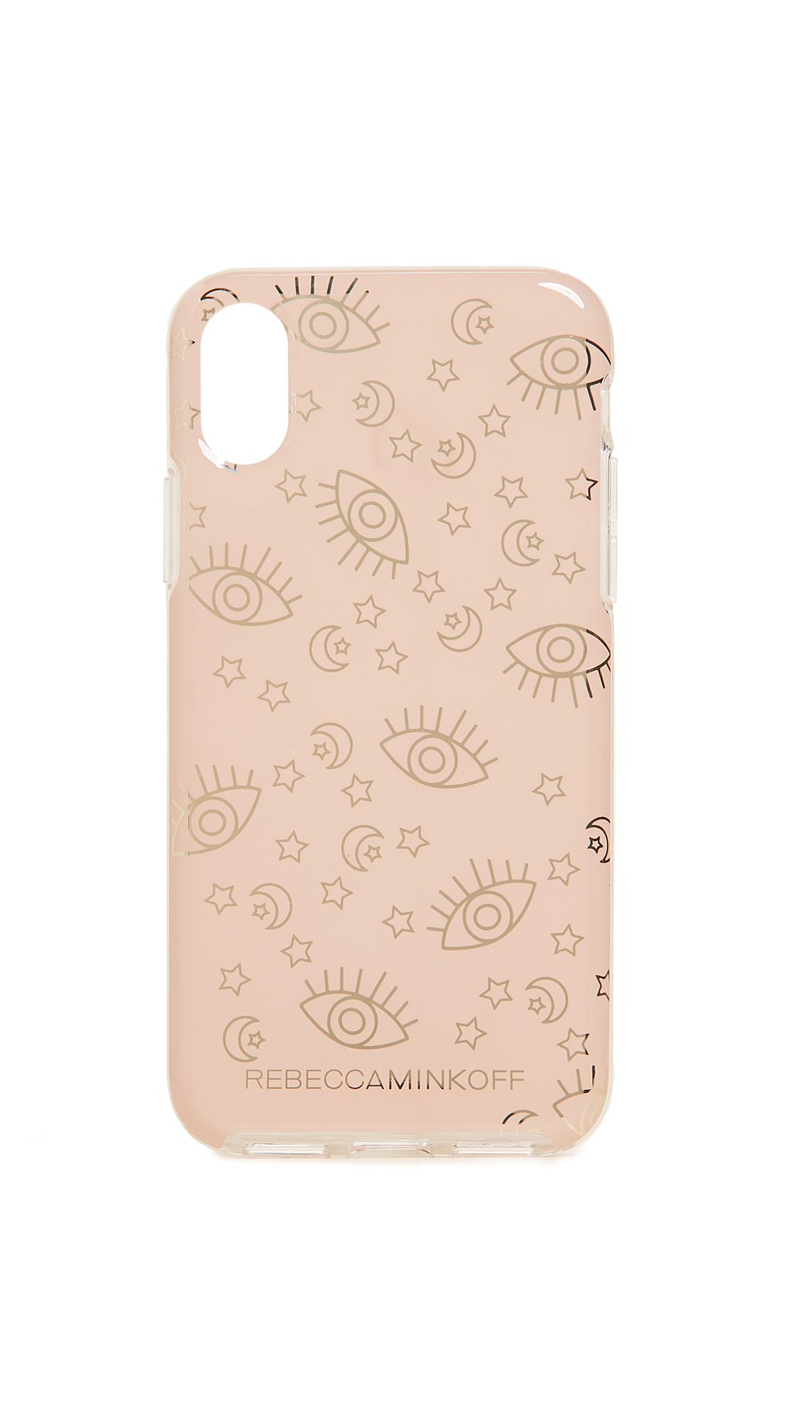 Rebecca Minkoff Metallic Galaxy Icons iPhone X Case - Rose Gold/Gold