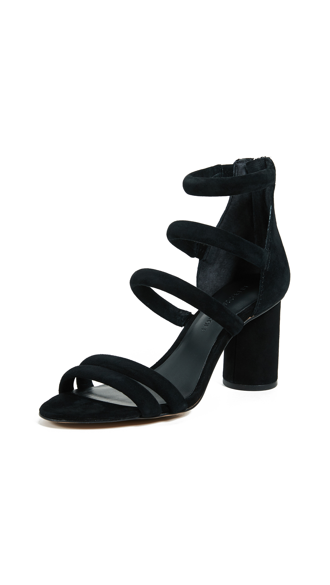 Rebecca Minkoff Andree Tubular Sandals - Black