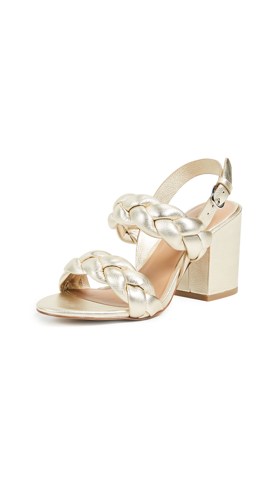 Rebecca Minkoff Candace Braided Sandals - Champagne