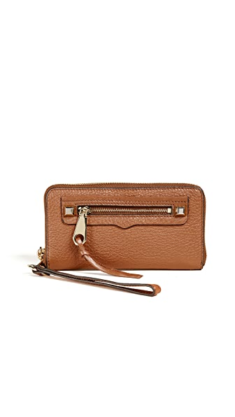 Rebecca Minkoff Regan Phone Wallet In Almond
