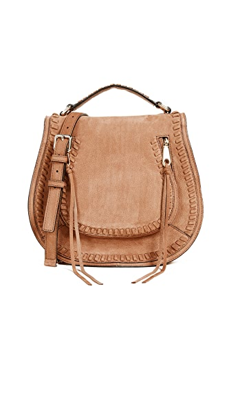 Rebecca Minkoff Vanity Saddle Bag In Almond