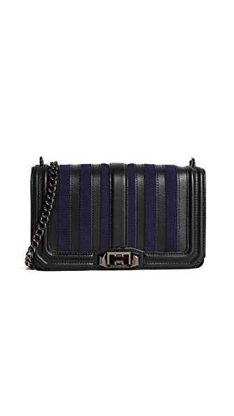 Rebecca Minkoff Stripe Love Cross Body Bag In Moon