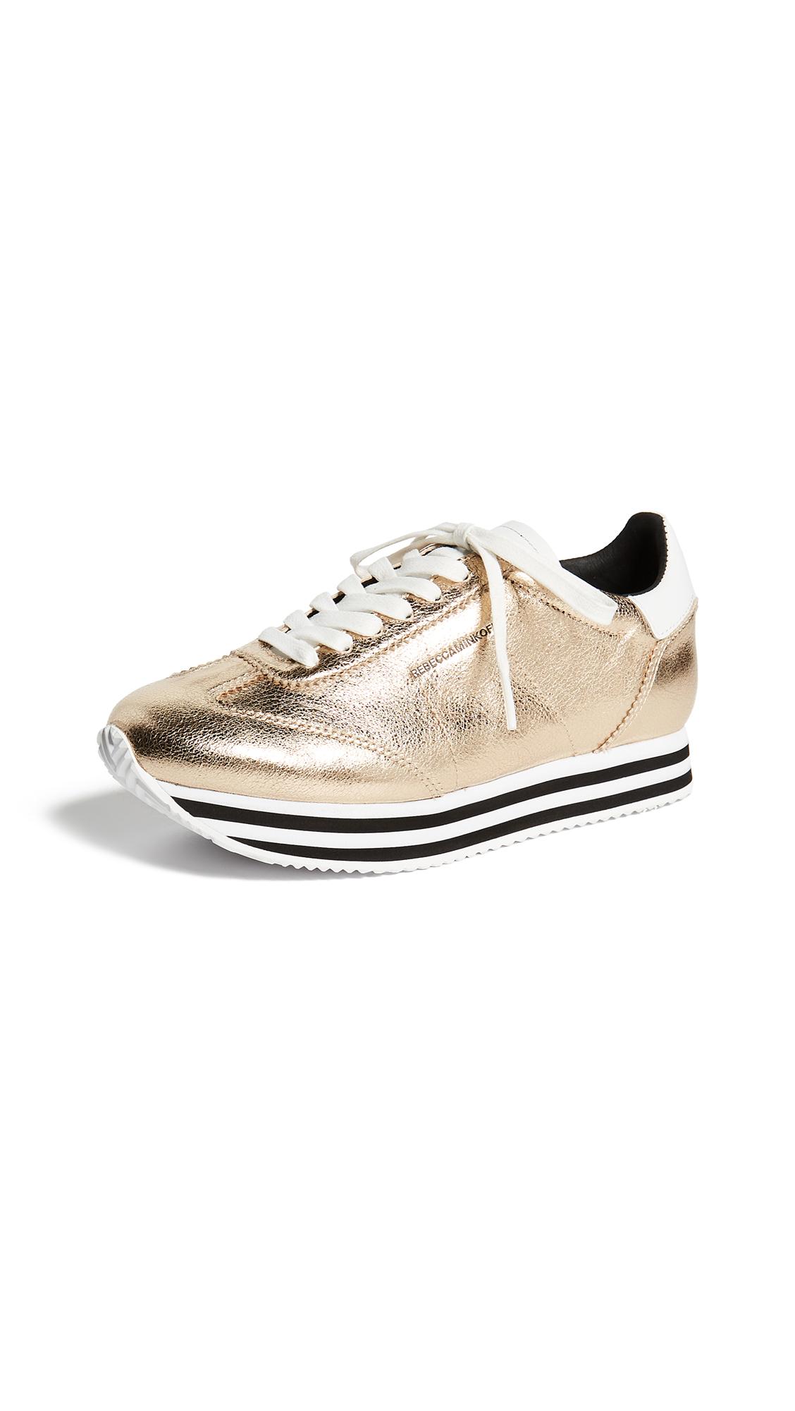 Rebecca Minkoff Susanna Sneakers - Gold