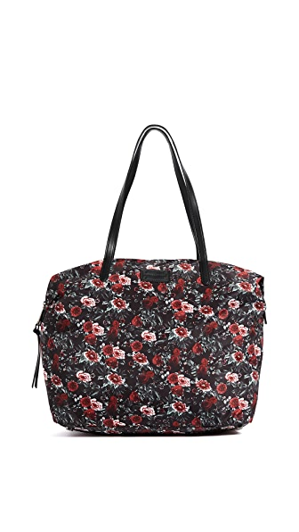 Rebecca Minkoff Washed Nylon Tote In Rose Floral