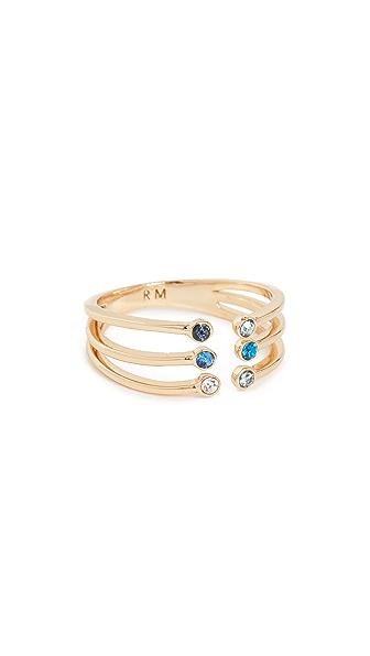Rebecca Minkoff Ombre Bubble Claw Ring In Gold
