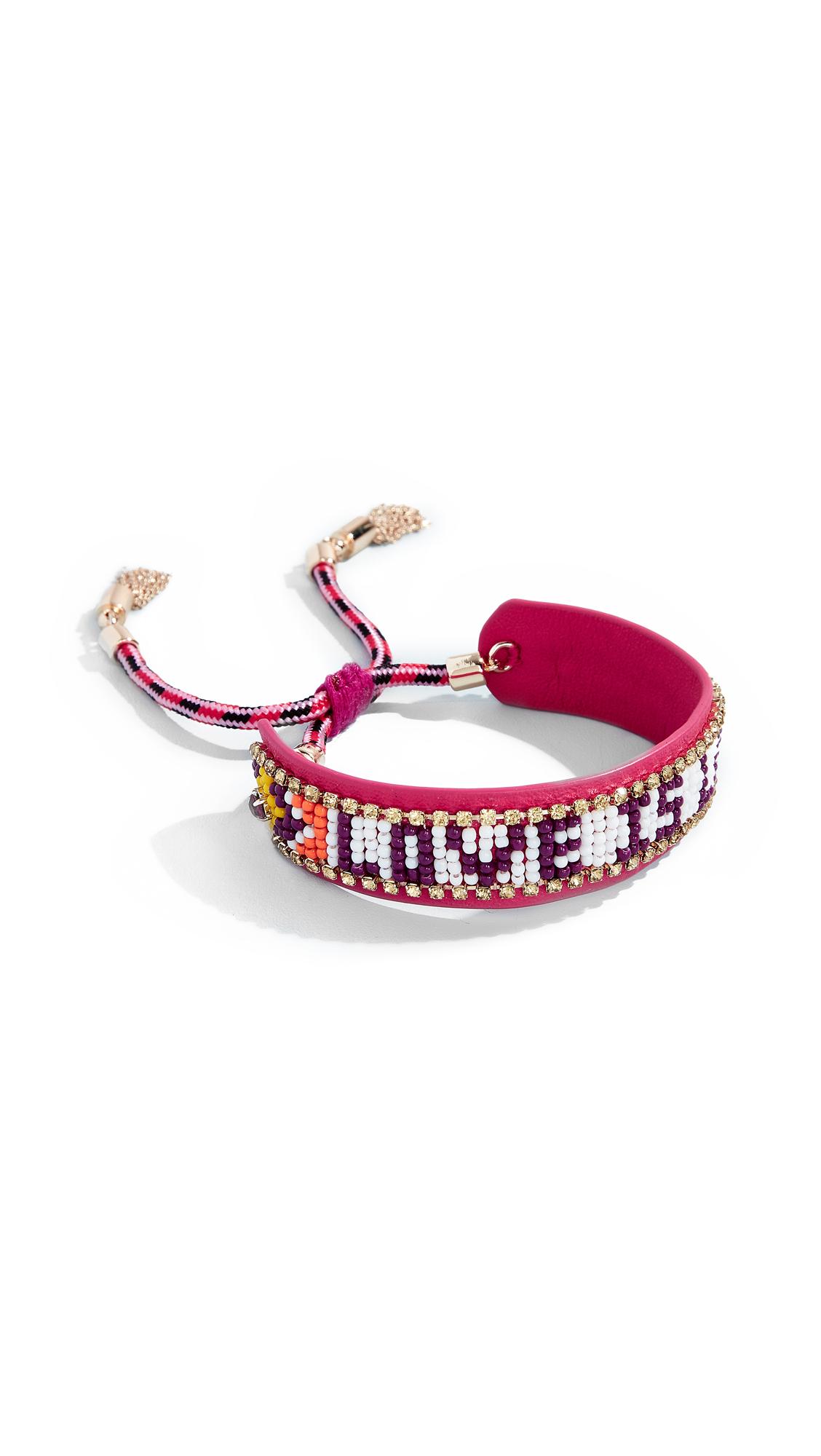 LOVE IS LOVE SEED BEAD BRACELET