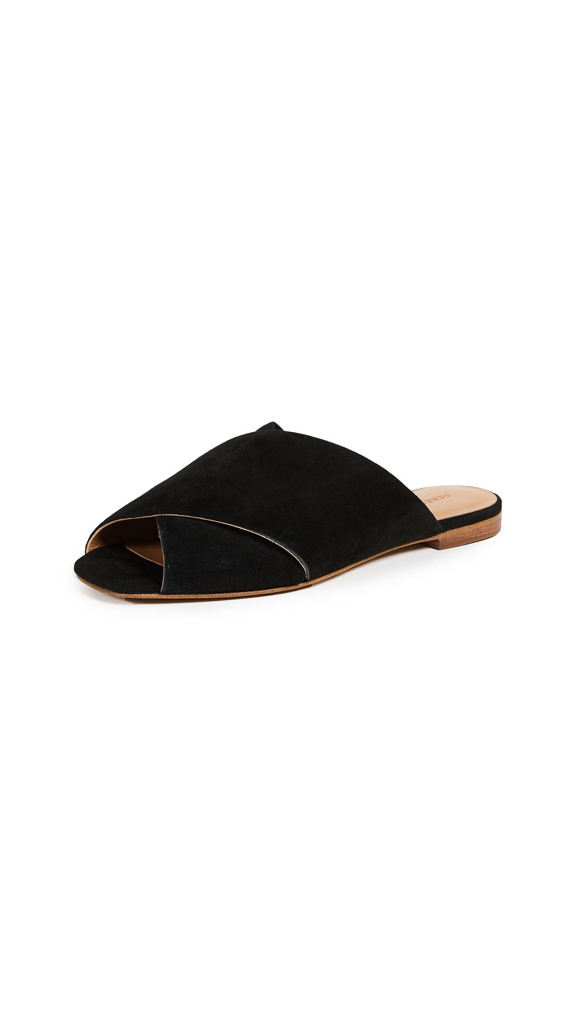 Rebecca Minkoff Anden Peep Toe Flats - Black