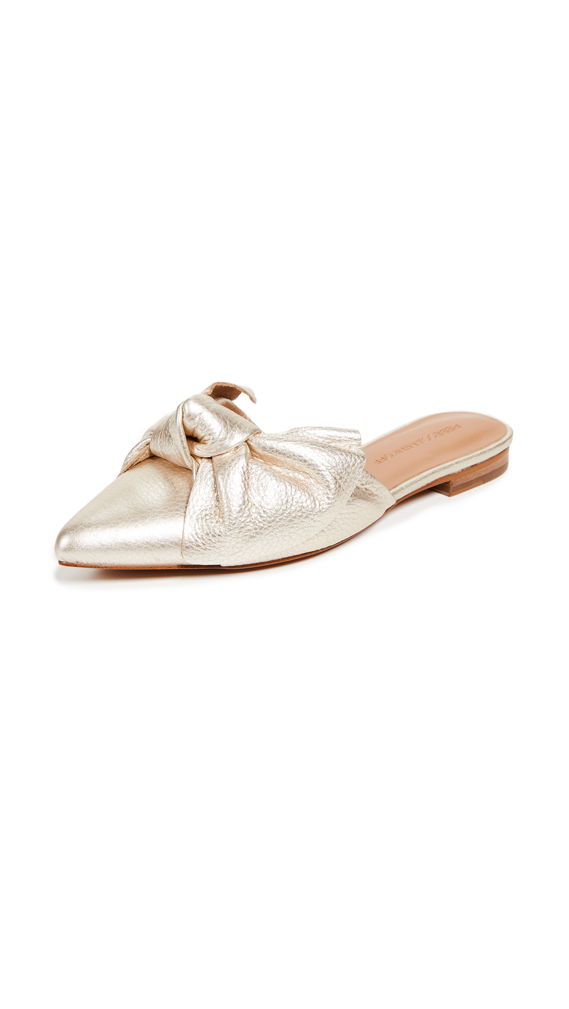 Rebecca Minkoff Alexis Bow Point Toe Flats - Gold
