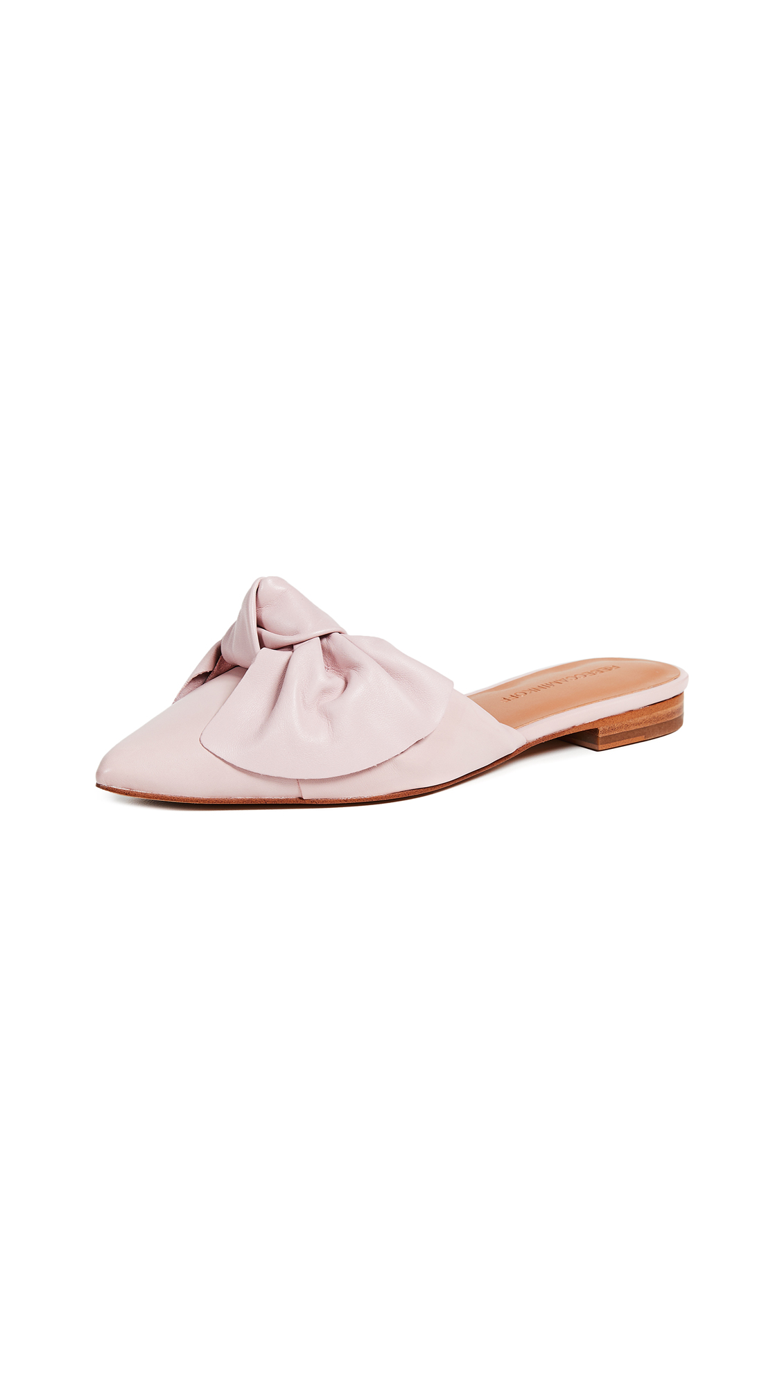 Rebecca Minkoff Alexis Bow Point Toe Flats - Pink