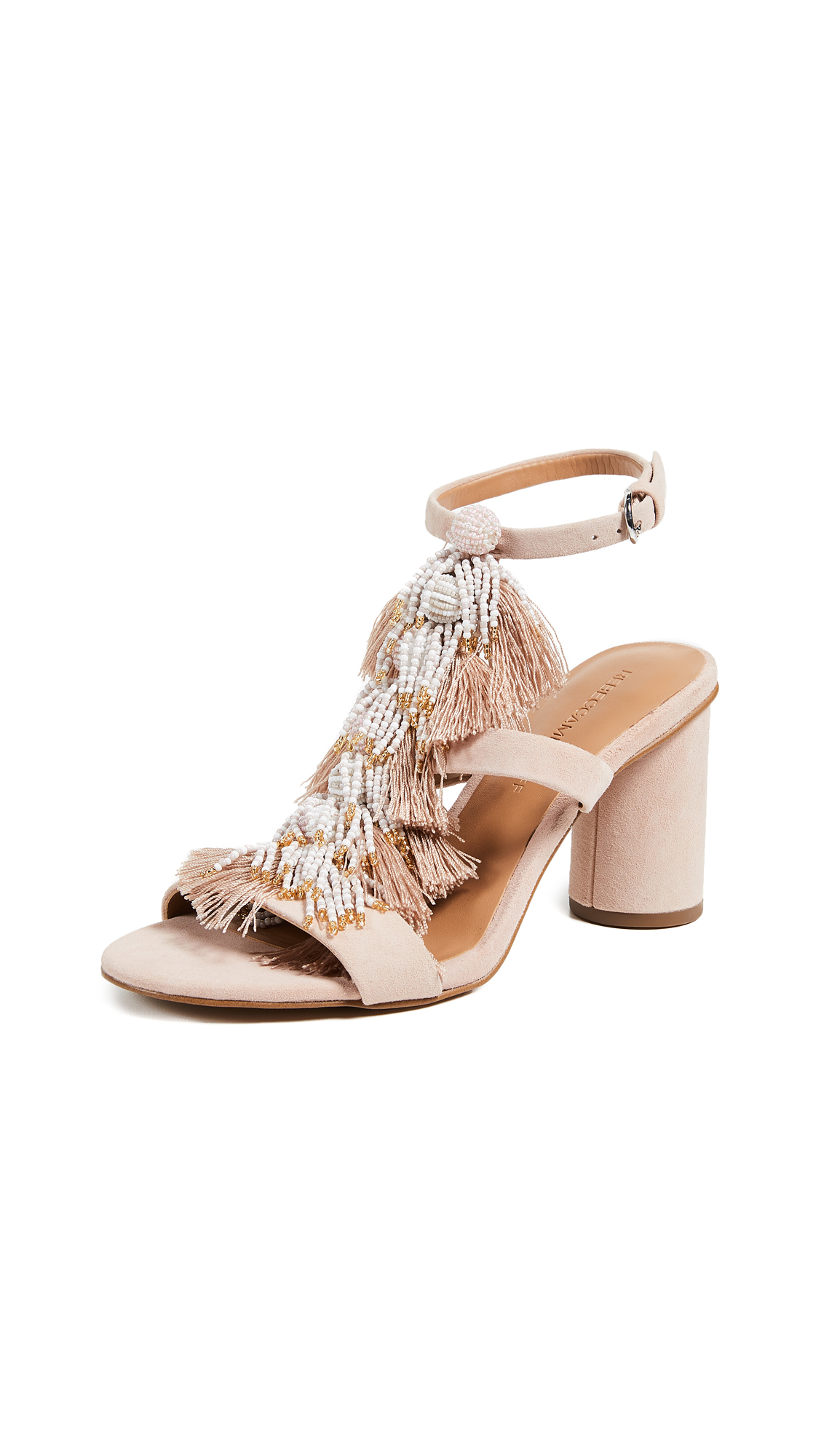 Rebecca Minkoff Alnie Block Heel Sandals - Ceramic