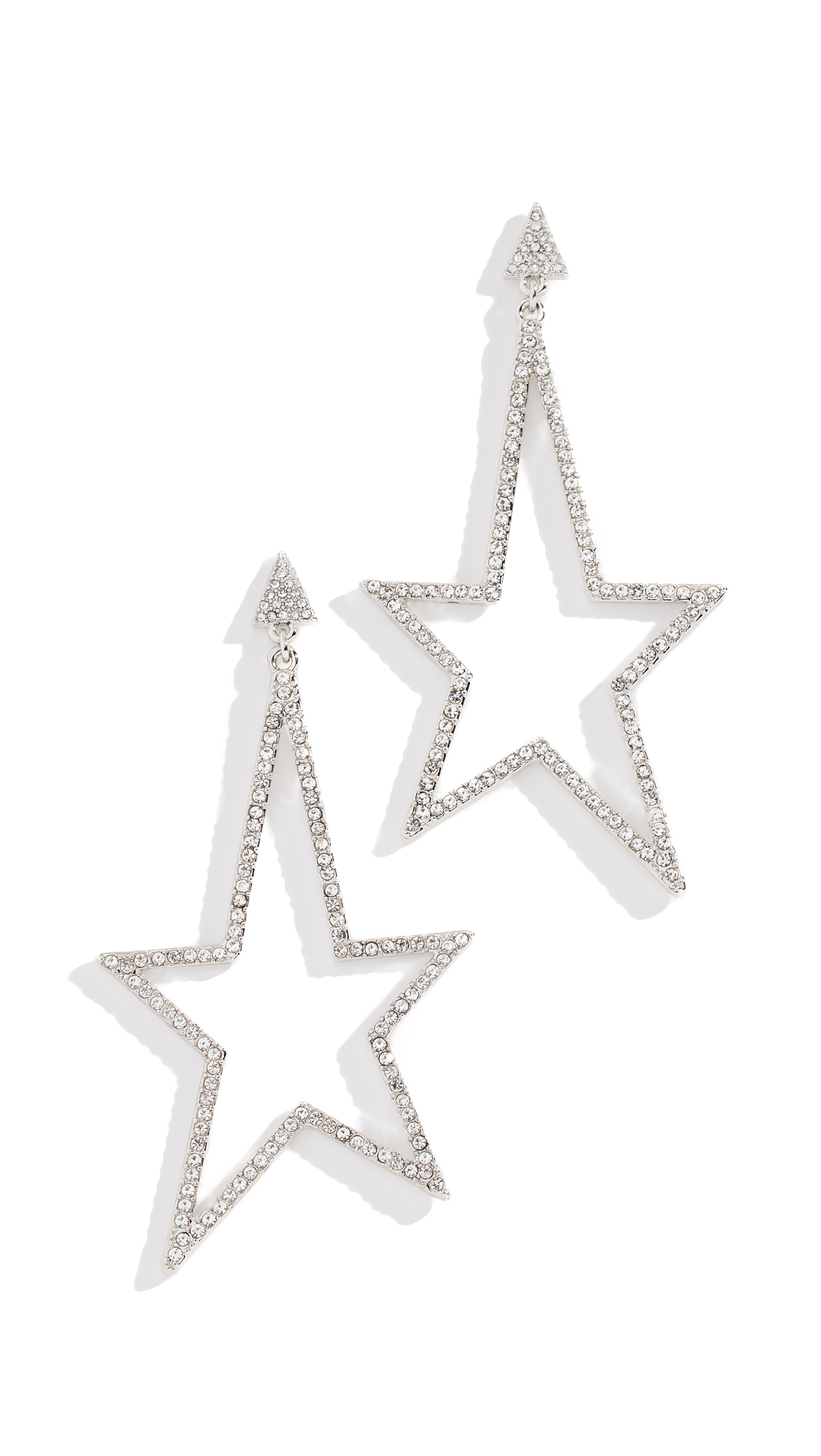 Rebecca Minkoff Stargazing Drama Stone Earrings - Silver/Crystal