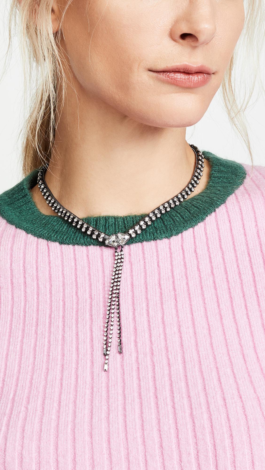 6155e3cf758 Rebecca Minkoff Gemma Crystal Fringe Necklace | SHOPBOP