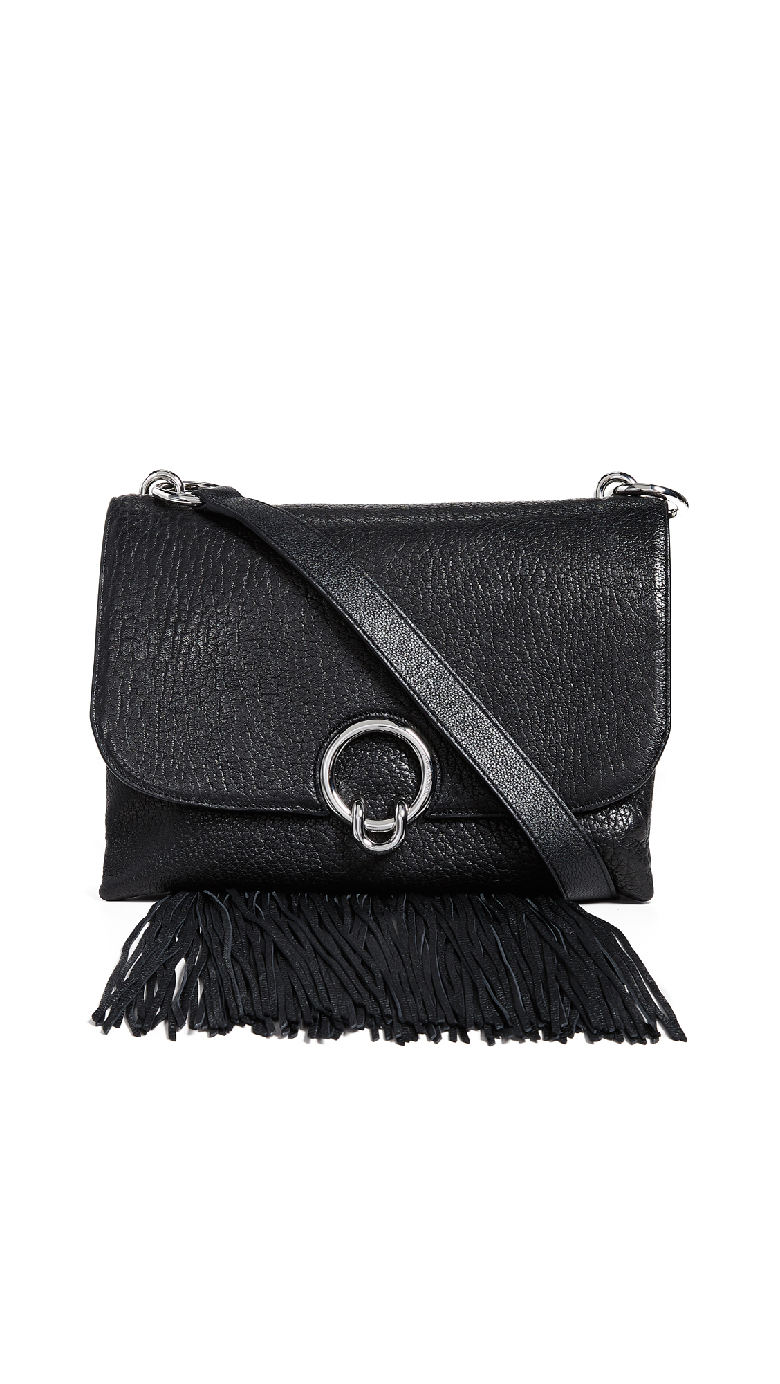 Rebecca Minkoff Isabel Large Shoulder Bag with Fringe