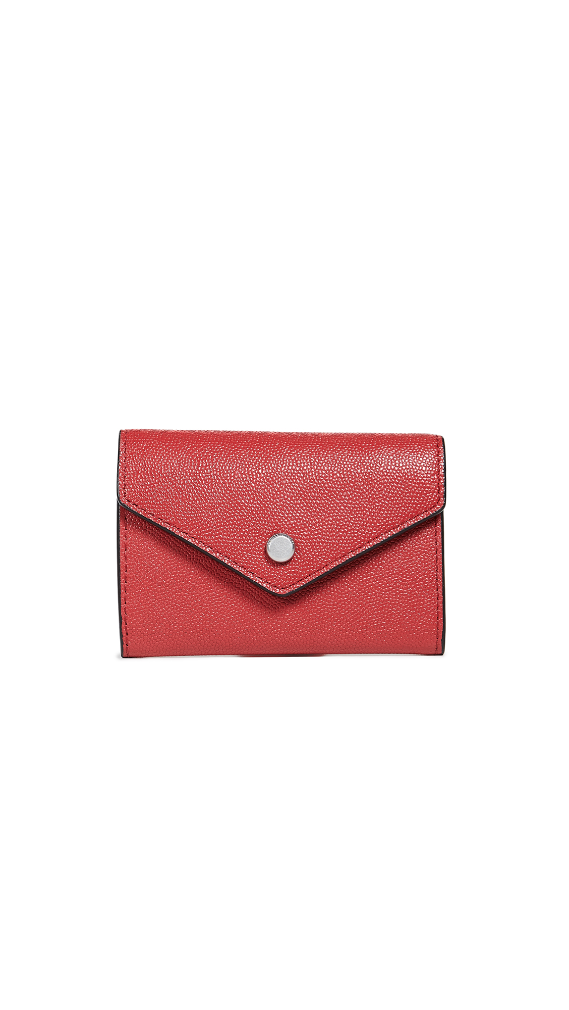 Rebecca Minkoff Olivia Bi-Fold Key Ring Wallet In Scarlet