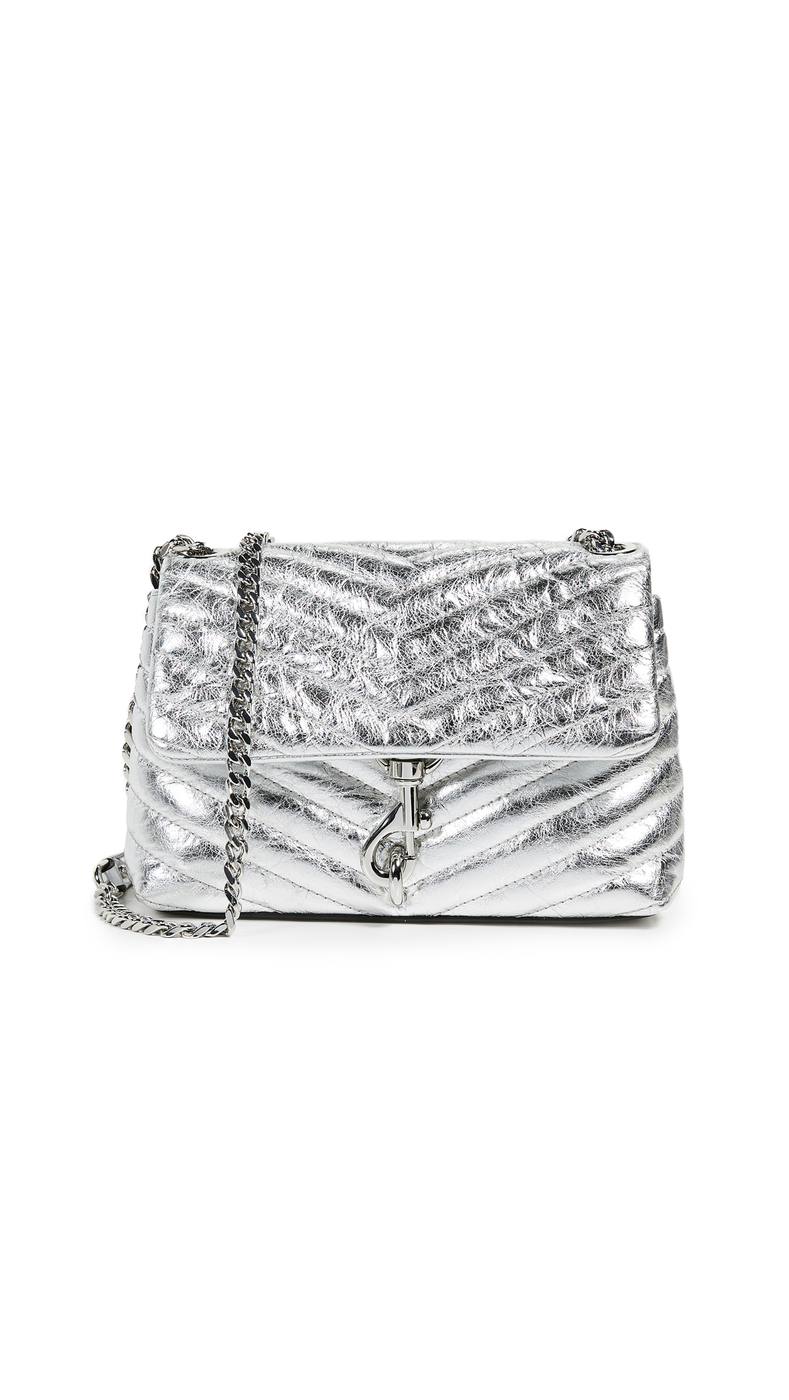 Rebecca Minkoff Edie Quilted Metallic Crossbody Bag