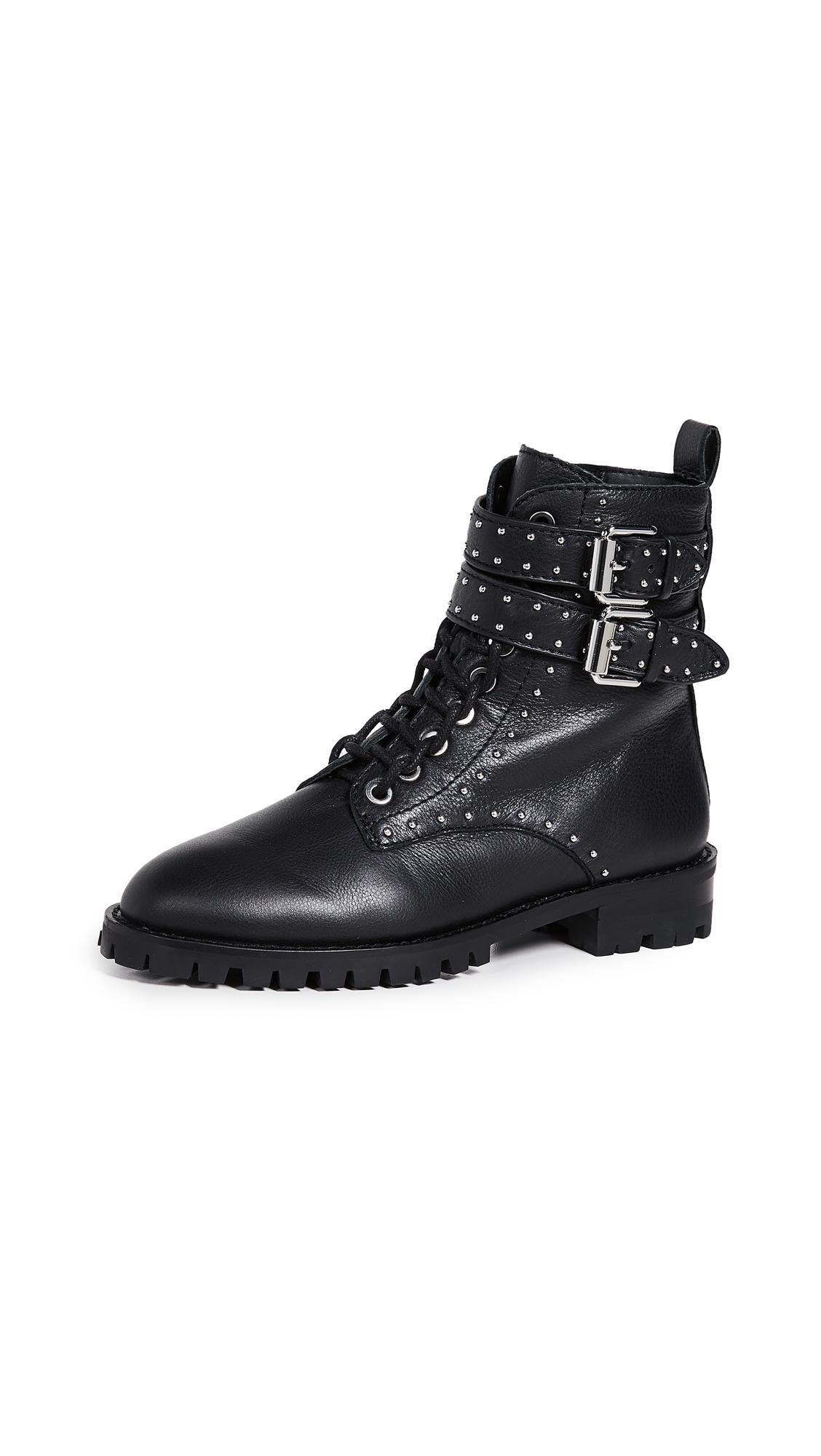 Rebecca Minkoff Jaiden Stud Combat Boots - Black