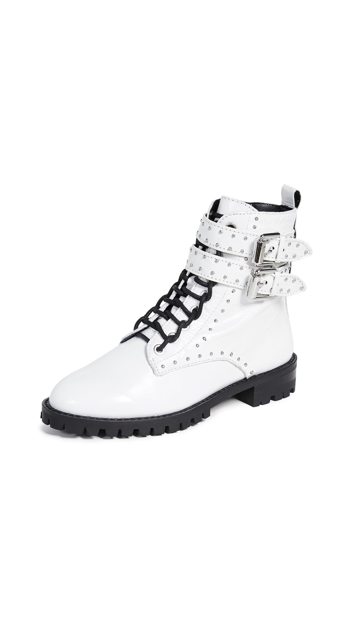 Rebecca Minkoff Jaiden Stud Combat Boots - White