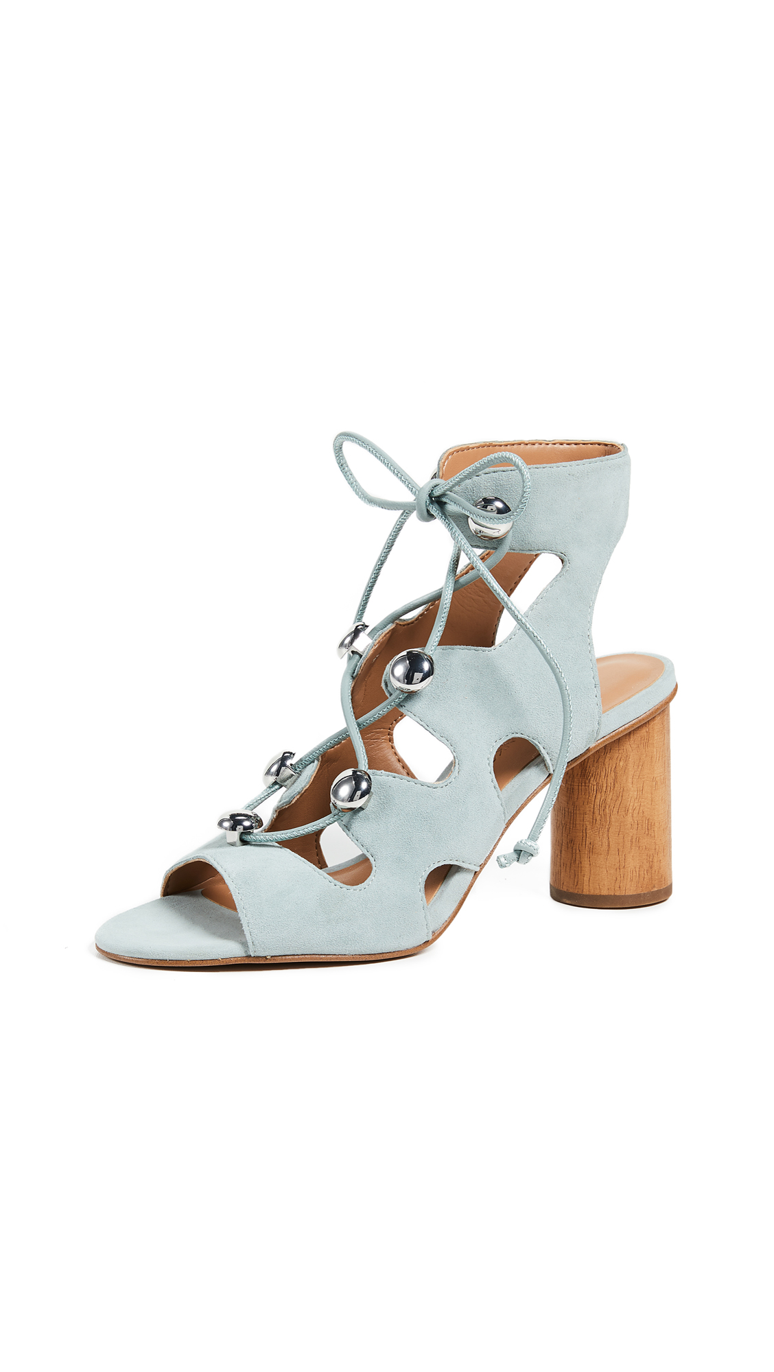 Rebecca Minkoff Adiv Block Heel Sandals - Dusty Green