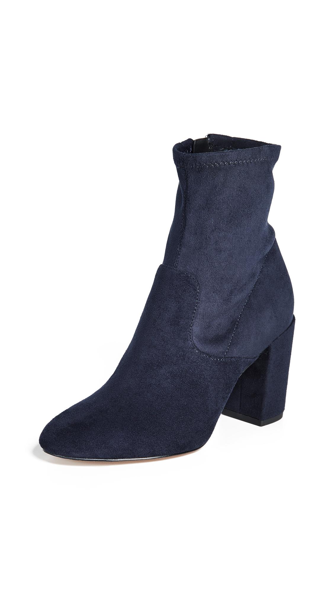 Rebecca Minkoff Gianella Block Heel Booties - Navy