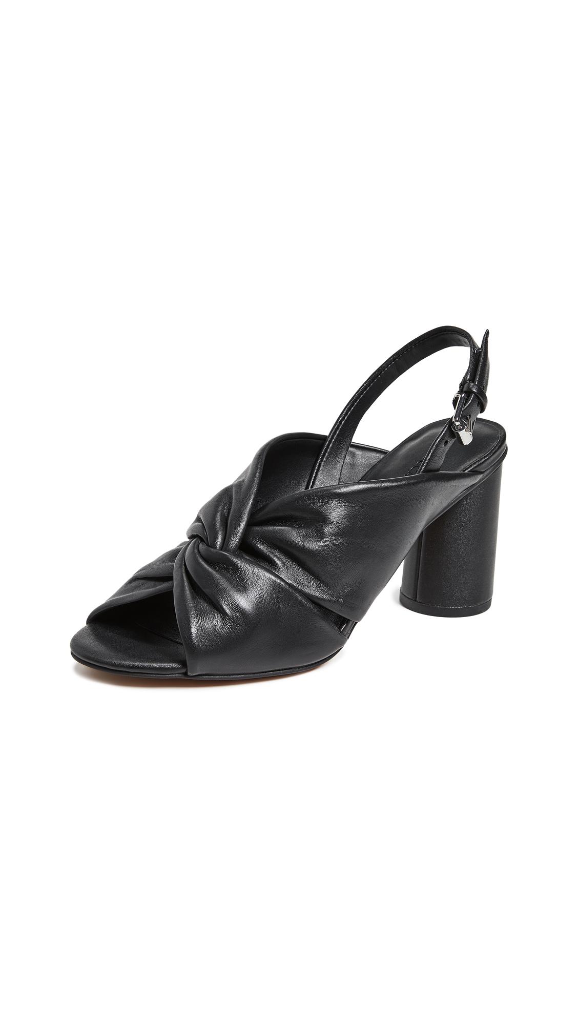 Rebecca Minkoff Agata Block Heel Slingbacks - Black