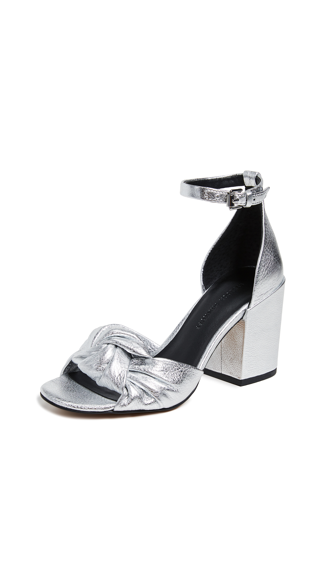 fad537d7baa Rebecca Minkoff Women S Capriana Block-Heel Sandals In Silver