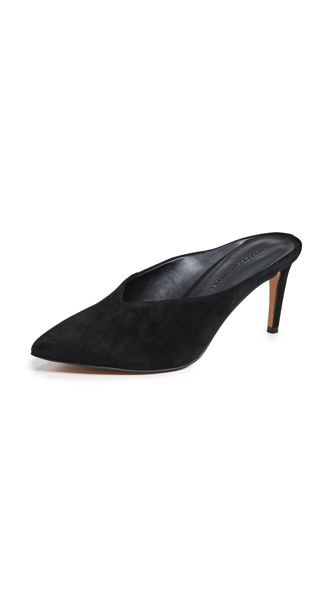 Rebecca Minkoff Graciano Point Toe Mules - Black