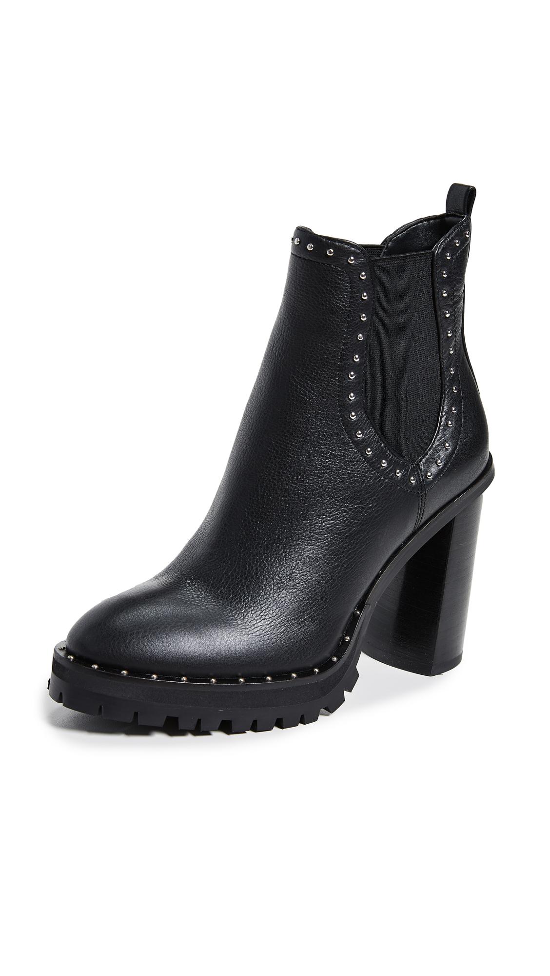 Rebecca Minkoff Edolie Block Heel Chelsea Boots - Black