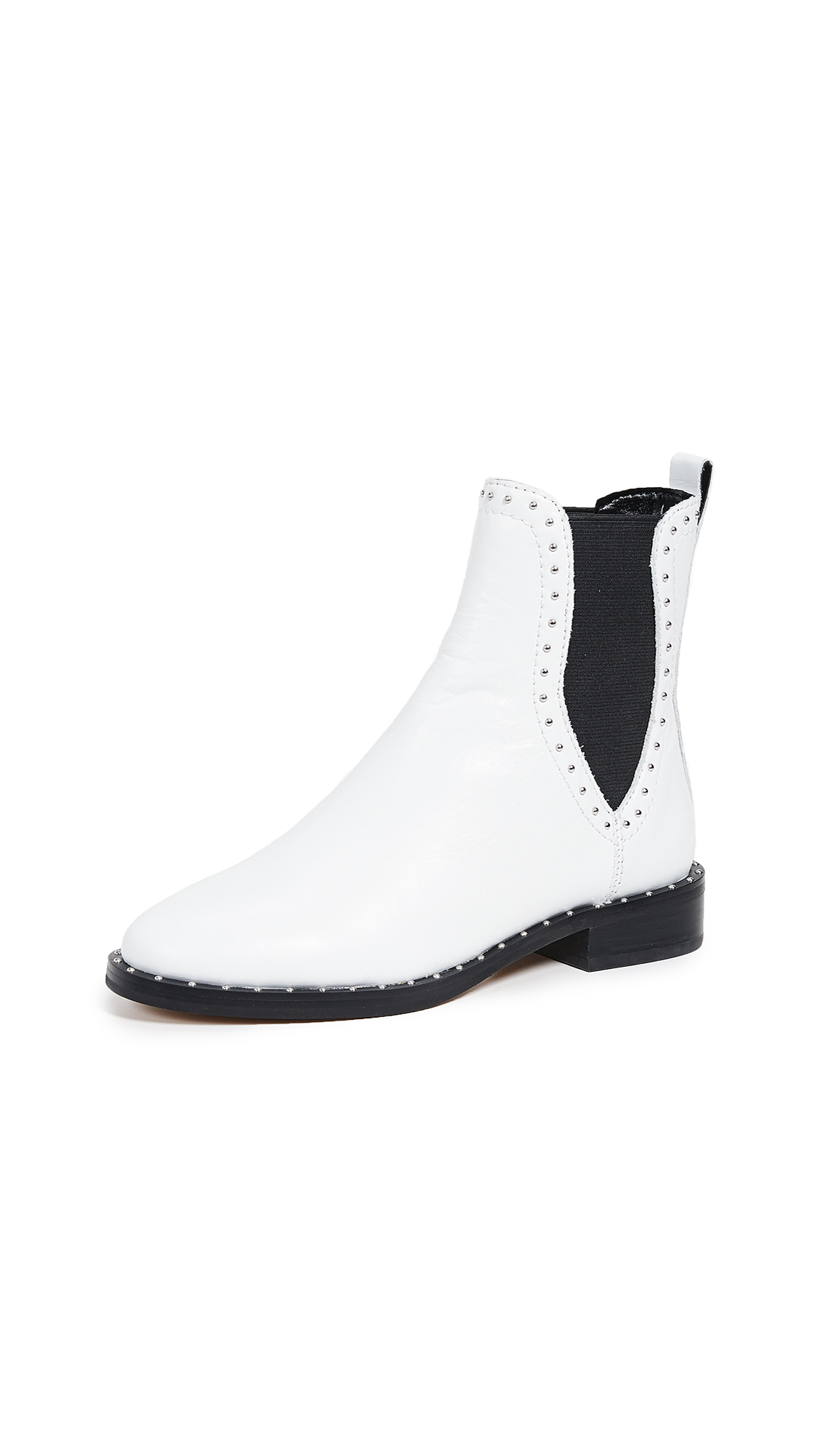 Rebecca Minkoff Sabeen Chelsea Booties - Optic White/Black