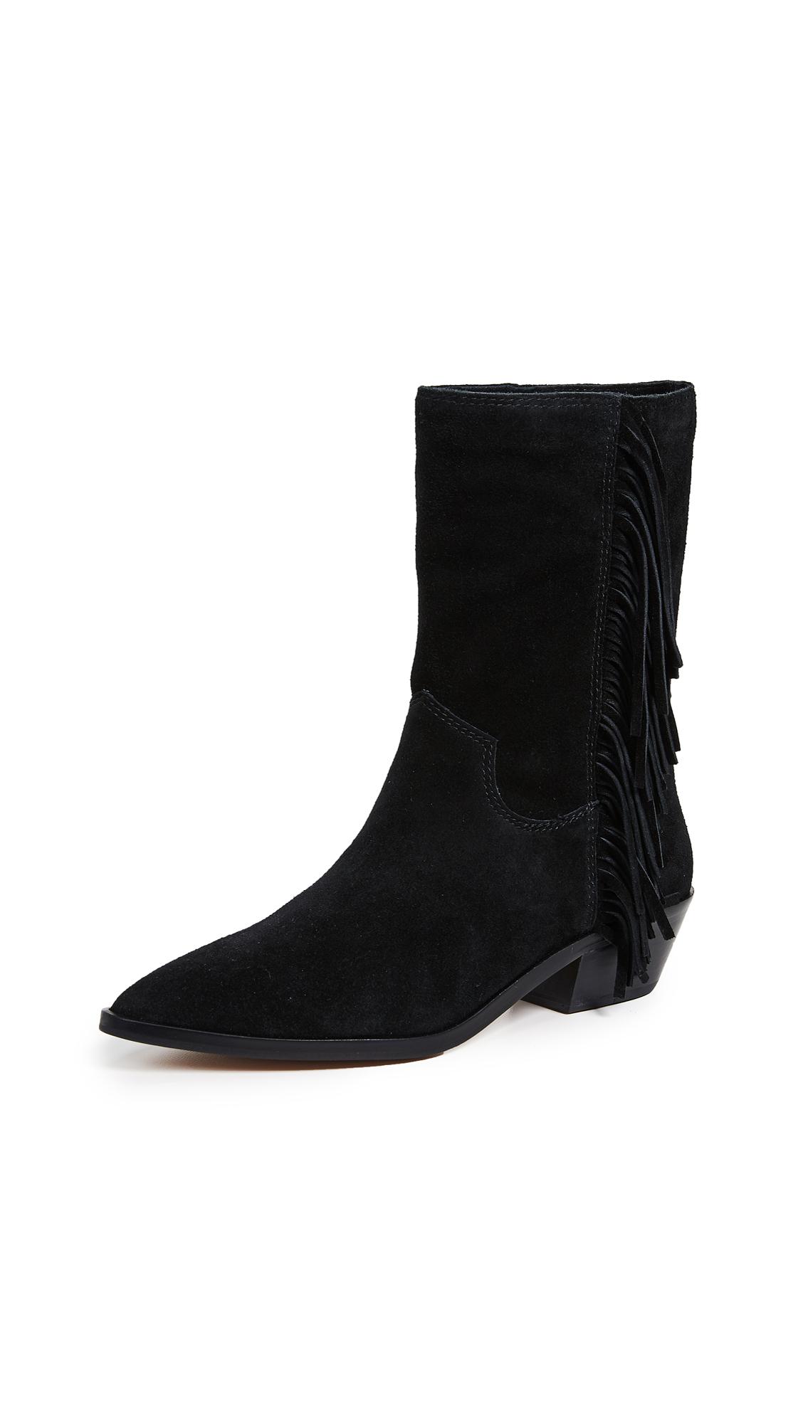 Rebecca Minkoff Krissa Fringe Western Boots - Black