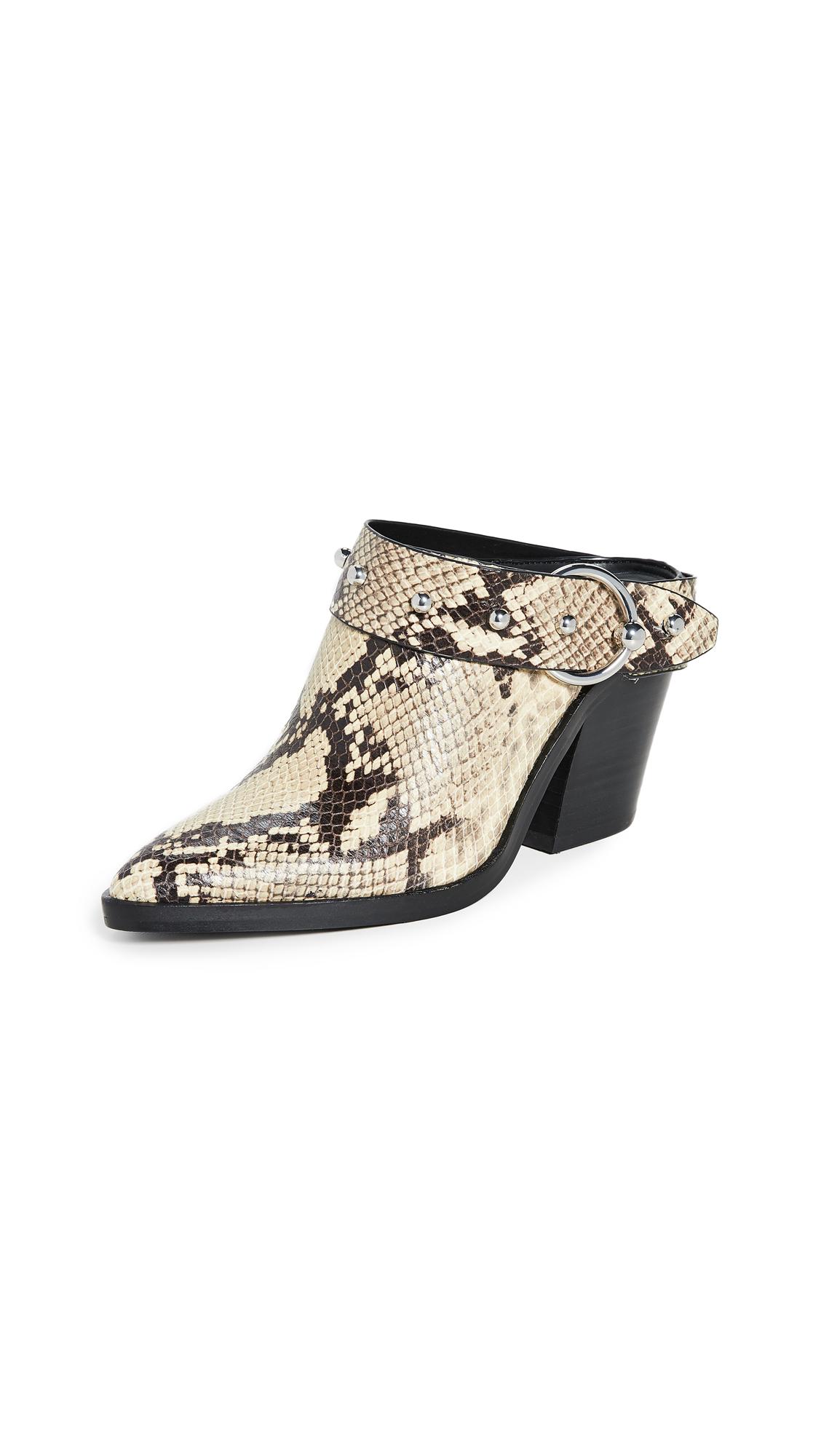 Buy Rebecca Minkoff online - photo of Rebecca Minkoff Sallest Too Block Heel Mules