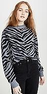 Rebecca Minkoff Jax Zebra Intarsia Sweater
