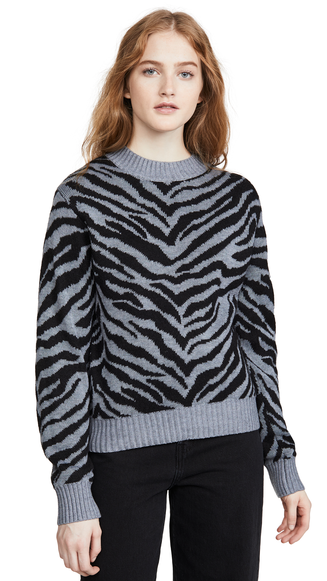 Buy Rebecca Minkoff online - photo of Rebecca Minkoff Jax Zebra Intarsia Sweater