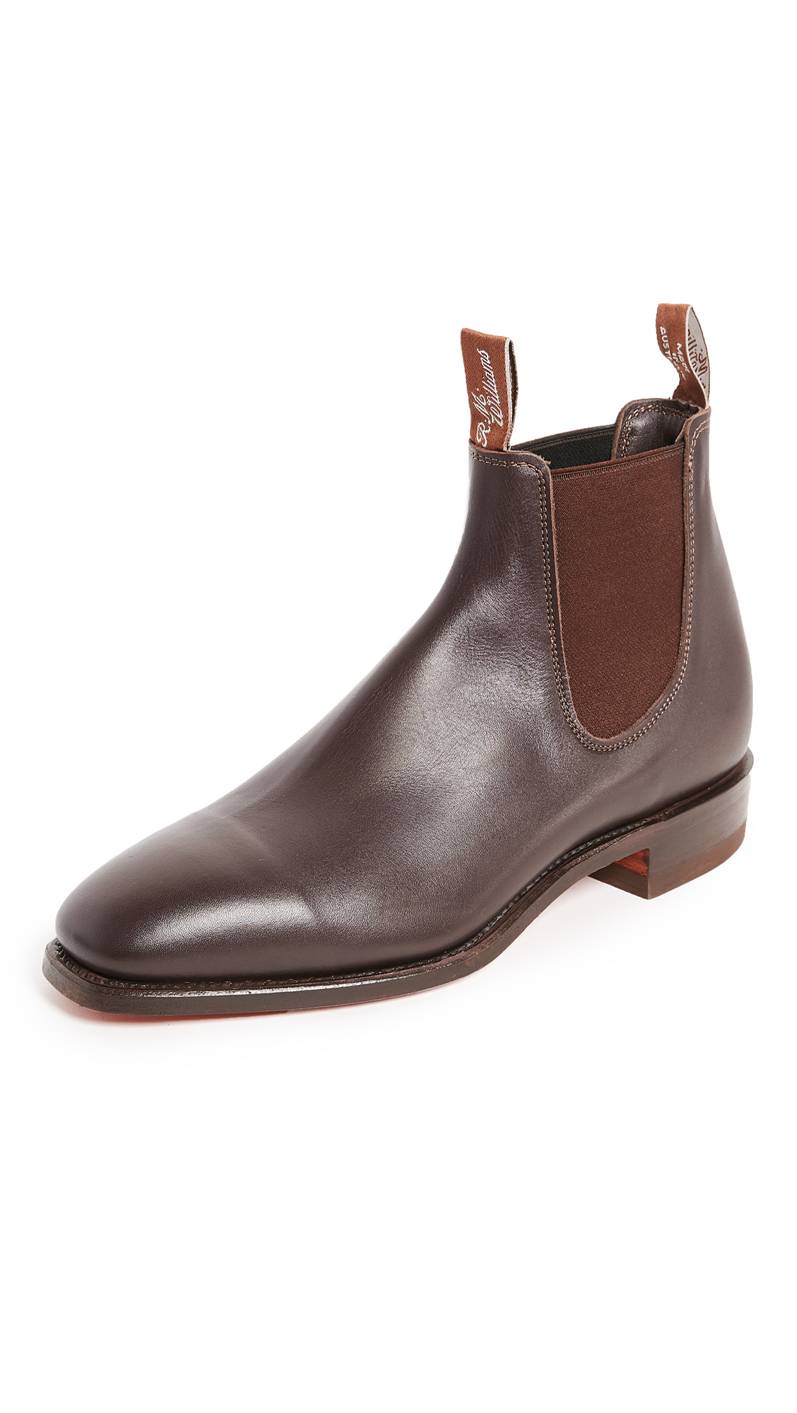 R.M.WILLIAMS Men'S Comfort Craft Leather Chelsea Boots in Brown