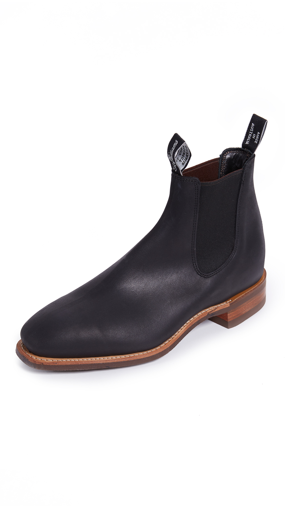 R.M.WILLIAMS COMFORT RM DISTRESSED LEATHER CHELSEA BOOTS