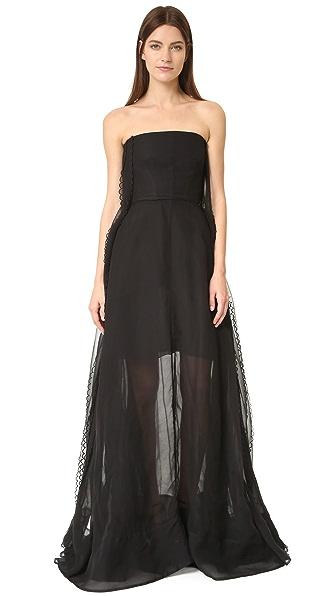 Rochas Вечернее платье без бретелек