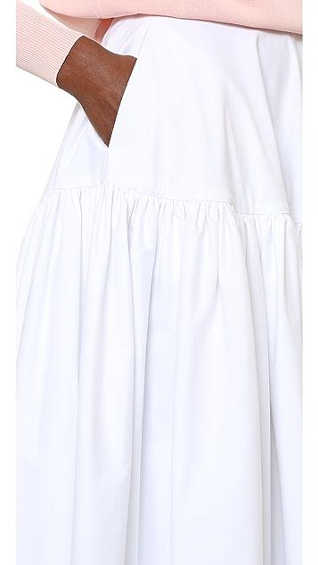 Rochas Yoke Maxi Skirt