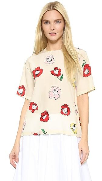 Rochas Face Print Shirt