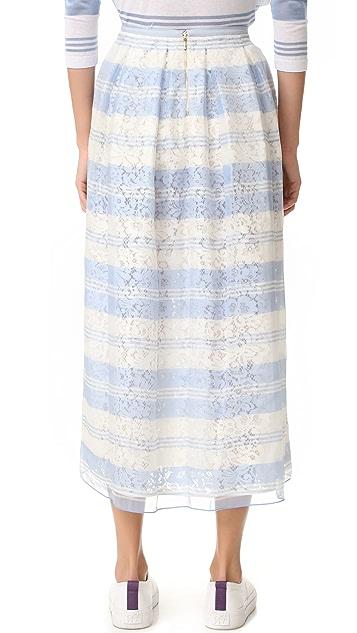 Rochas Striped Skirt