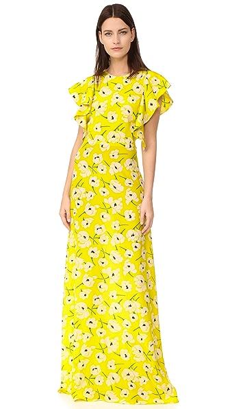 Rochas Вечернее платье с принтом
