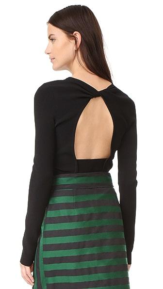 Rochas Long Sleeve Sweater In Black